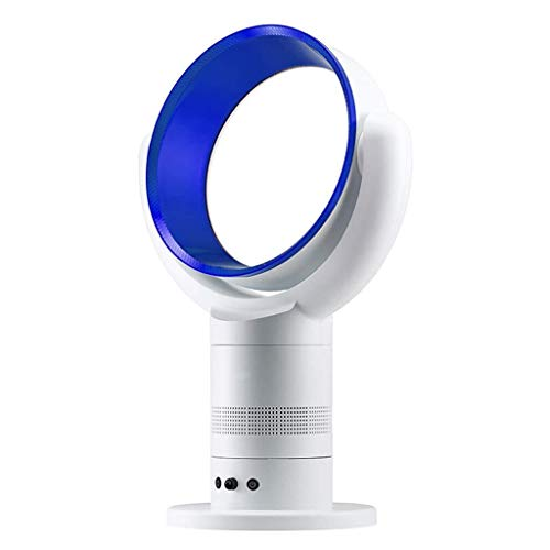 XISAY Bladeless Fan, Fan with Remote,Summer Natural Air Saft Cooling Fan, Tower Fan for Air Purifier with Timer and Remote Controller, Purple/Blue/White 61.53825cm (Color : Blue) ()
