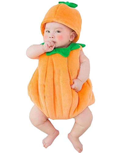 Turkoni Newborn Baby Photography Props Boy Girl Costume Outfits Cute Hat Pants/Halloween Pumpkin Costume (Pumpkin) -