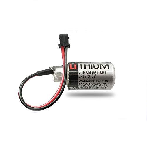 FCQLR Compatible for ER3V//3.6V PLC Battery JZSP-BA01 Yaskawa servo Lithium Battery 1//2AA Battery