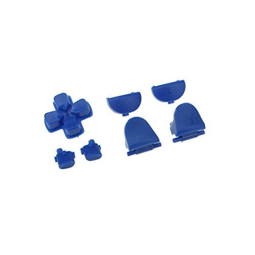 WPS New Version JDM-030 Matte buttons Collection Parts for PS4 Playstation 4 Dualshock 4 ( GEN 2nd Controllers ONLY) (Blue)