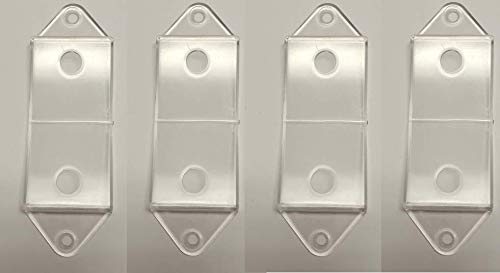Clear Rocker Switch Plate Cover Guard Keeps Light Switch ON or Off Protects Your Lights or Circuits from Accidentally Being Turned on or Off. (4 Pack) ()