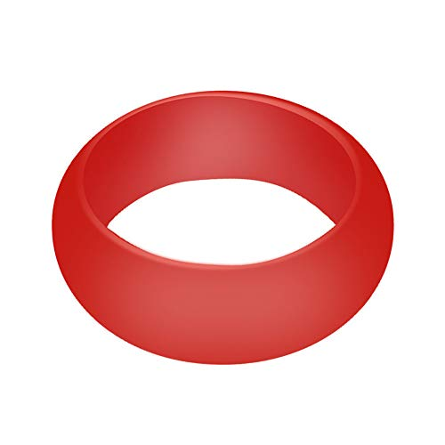 Fxbar Silicone Rings, Men Fashion Sport Rubber Ring Lightweight Eco-Friendly Eternity Rings Size - Crystal Light Nine Tiara