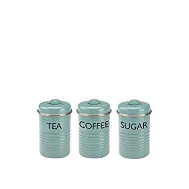 Typhoon Vintage Kit Tea/Coffee/Sugar Canisters, Summer House Blue, Set of 3