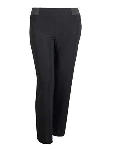 - INC Womens Petites Matte Jersey Regular Fit Wide Leg Pants Black PP
