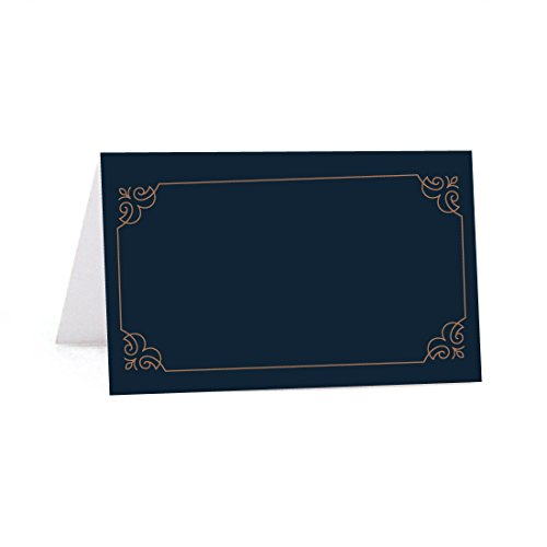 Andaz Press Navy Blue Art Deco Vintage Party Wedding Collection, Printable Table Tent Place Cards, 20-Pack