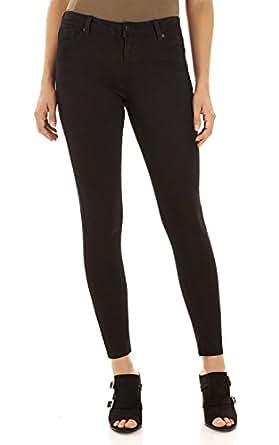 WallFlower Women's Juniors Ultra Luxe Skinny Jegging In Black Size:0