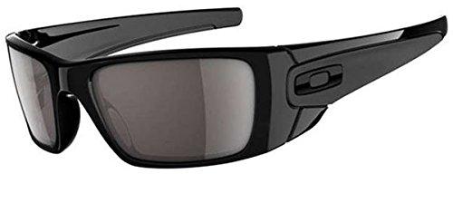 Oakley Men's OO9096 Fuel Cell Rectangular Sunglasses, Polished Black/Warm Grey, 60 mm