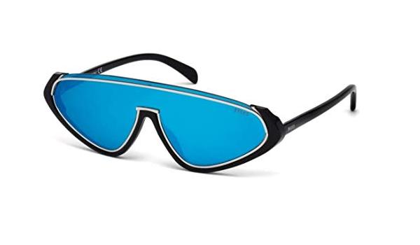 Emilio Pucci Unisex Adults/' EP0069 01K 53 Sunglasses Black Nero Lucido//Roviex Grad ,