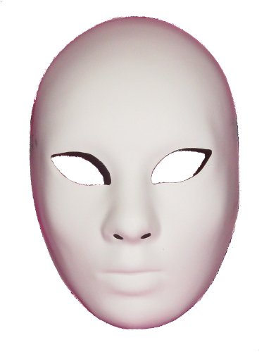 Joker Costume Venice (Venice Buys Venetian Masks Blank White Volto Grezzo Venetian Masquerade Mask for Decorating White)