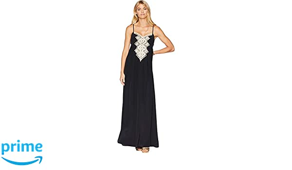 6c2882b98507 Amazon.com: Lilly Pulitzer Women's Kelsea Silk Maxi Dress Onyx 0 ...