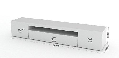 Mobile Porta Tv Basso Moderno.Porta Tv Moderno Mojito Mobile Soggiorno Bianco Portatv Design Dimensioni In Cm Lap 200 36 2 40