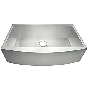 "Image result for AKDY® 30"" 16 Gauge Handmade Stainless Steel Undermount Apron Single Bowl Kitchen Sink"