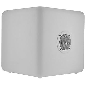 BigBen CBLIGHTSPKL - Altavoz exterior con Bluetooth, luminoso, tamaño grande, color blanco: Amazon.es: Electrónica