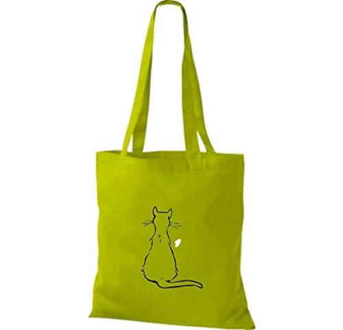 Mujer Tela Bolso Para Shirtinstyle Green Lime Algodón De gx7XEwUS