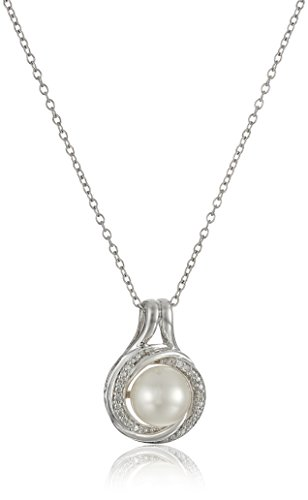 Sterling Cultured Diamond Pendant Necklace