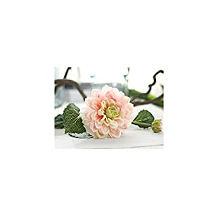 2 Heads Dahlias Artificial Flowers Silk Fall Vivid Real Touch Fake Flowers for Wedding Party Home Garden Decoration Floral,Pink 104