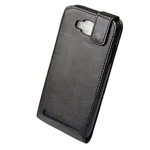 HOR Pu completo del caso del tirón para Samsung i8750 cuerpo s4-negro