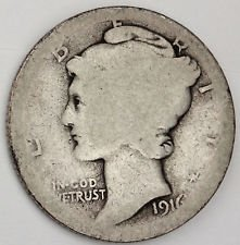 1916 D Mercury Dime (1916 D Mercury Dime)