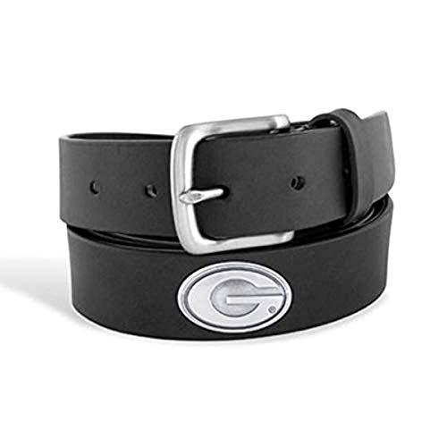 Zep-Pro Men's NCAA Georgia No Tip Leather Concho Belt-Black UGA-46