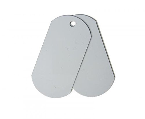 5 Pcs. Raw Stainless Steel Dogtags or Large Keychains, Unfinished Blanks for Hand Stamping