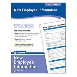 Adams New Employee Information Forms ()