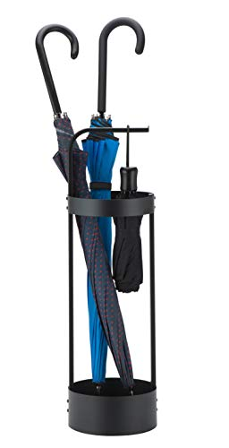 JackCubeDesign Steel Umbrella Stand Entryway Space Saving Umbrella Holder Organizer for Front Door(Black) - MK444A