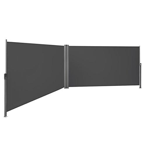 Songmics Doppel Seitenmarkise 160 x 600 cm TÜV SÜD zertifiziert verdickter Polyester 280 g/m² GSA320G