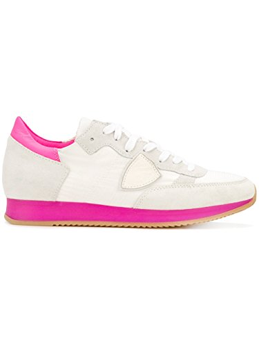Philippe Model Dames Trldns04 Wit / Grijs Lederen Sneakers