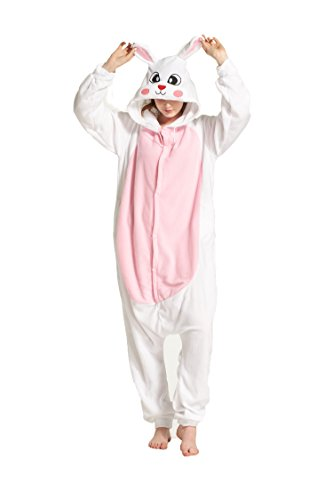 Lightweight Polar Fleece Easter Bunny Costume L (Bunny Halloween Costume Ideas)