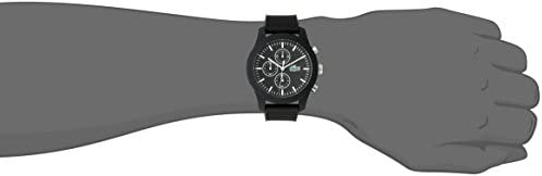 Lacoste Men's 2010821 12.12 Analog Display Japanese Quartz Black Watch 2