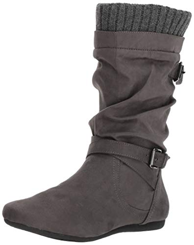 Report Women's Esteban Mid Calf Boot, Charcoal, 6 M US