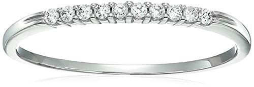 - Vir Jewels 1/10 cttw Petite Diamond Wedding Band in 10K White Gold In Size 9