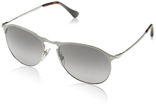 Persol Mens Sunglasses Silver/Green Metal - Polarized - 53mm (Persol Sunglasses Silver)