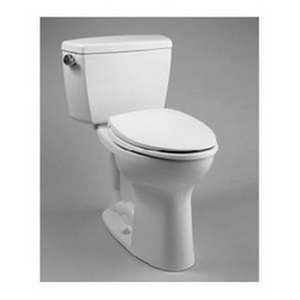 TOTO CST744SLB#01 Drake 2-Piece Ada Toilet with Elongated Bowl and Bolt-Down Tank Lid, Cotton White by TOTO