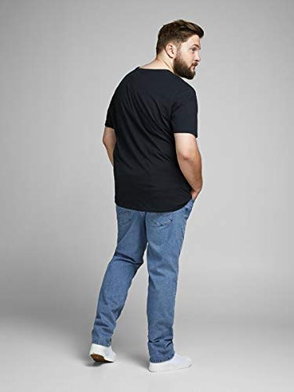 Jack & Jones męskie dżinsy Plus Size Slim Fit Glenn Original: Odzież