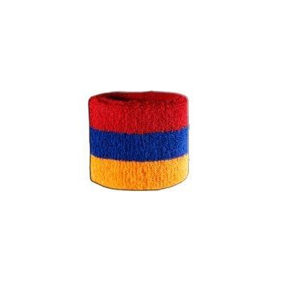 Digni® Poignet éponge avec drapeau Arménie, pack de 2
