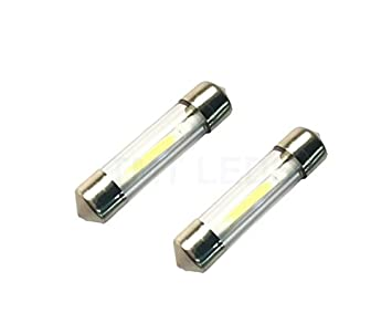 Unipower TMT LEDS(TM) 2 X BOMBILLAS LED FESTOON 36MM 1W BLANCO COCHES MOTOS MATRICULA INTERIOR: Amazon.es: Coche y moto