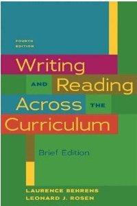 Writing+Reading Across Curriculum,Brief