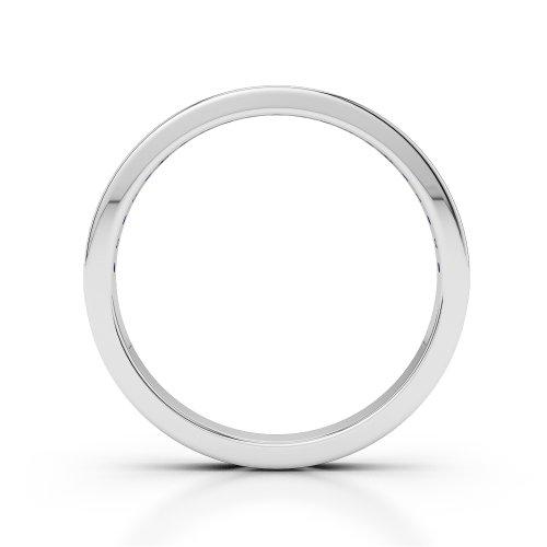 Or blanc 18carats 0,32CT G-H/VS Certifié Coupe ronde Saphir et diamants Agdr-1089