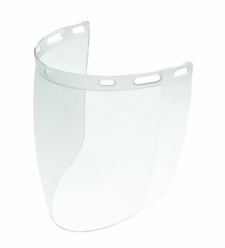 Gateway Safety 676 Venom Cylindrical Molded Contemporary Replacement Headgear Visor, Clear Anti-Fog Lens, 9