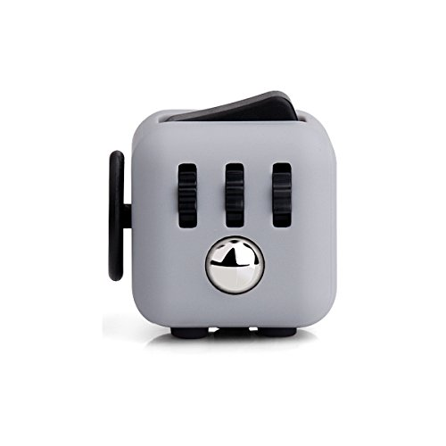 LEDeng Fidget Cube Relieves Stress And Anxiety for Children and Adults Anxiety Attention Toy (Gray Black)
