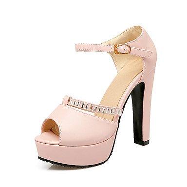 LvYuan Mujer-Tacón Robusto-Otro Zapatos del club-Sandalias-Informal-Semicuero-Azul Rosa Beige Naranja Pink
