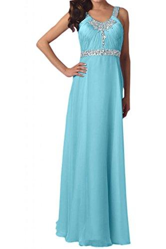Toscana novia moda rueckenfrei estrella de la gasa de los vestidos de noche largos vestidos de fiesta Party Hard Azul