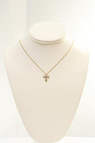 Cubic Zircon Cross Pattée Necklace