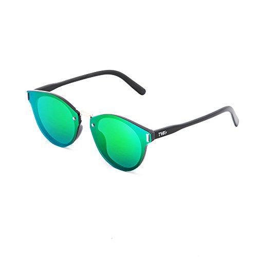 degradadas hombre de mujer espejo KANDINSKY Verde TWIG Gafas Negro sol TxOAZnPSx