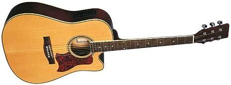 Rochester A64CE - A 64 ce guitarra acústica tipo dreadnought natural