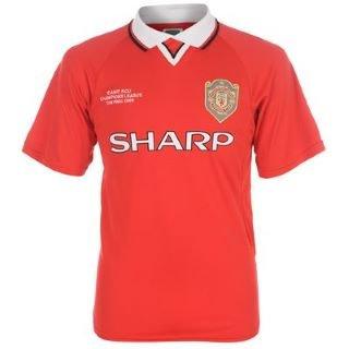 Score Draw Manchester United 1999 Champions League - Camiseta para hombre Fútbol camiseta, hombre, rojo, small: Amazon.es: Deportes y aire libre