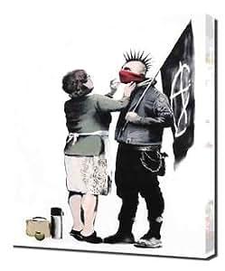 Banksy - Punk Mum - Pintura en lienzo