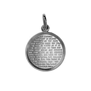 Silver 16mm round the lords prayer pendant amazon jewellery silver 16mm round the lords prayer pendant mozeypictures Gallery
