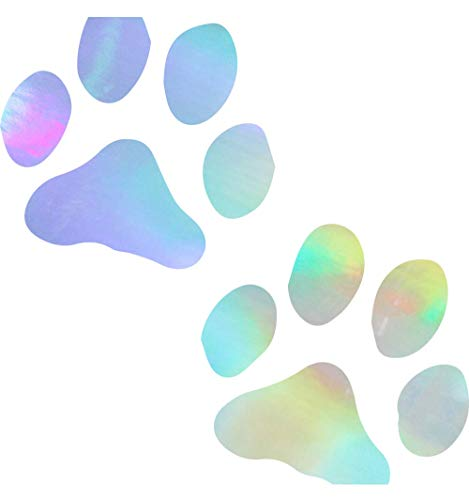 - ANGDEST Animal PAW Prints Puppy Dog (Hologram) (Set of 2) Premium Waterproof Vinyl Decal Stickers for Laptop Phone Accessory Helmet Car Window Bumper Mug Tuber Cup Door Wall Decoration